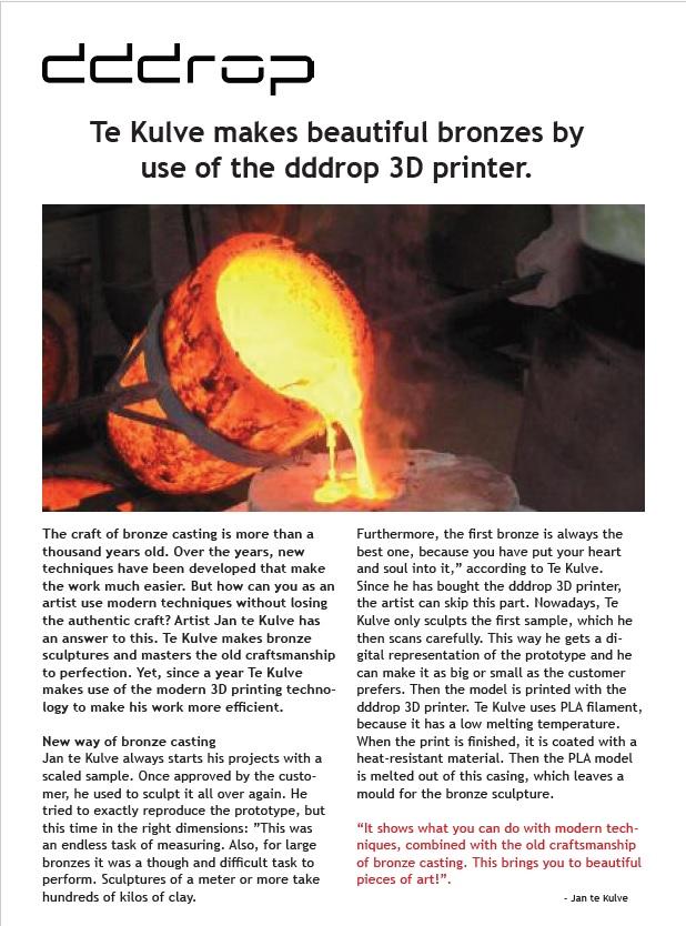 dddrop 3D printer review te kulve